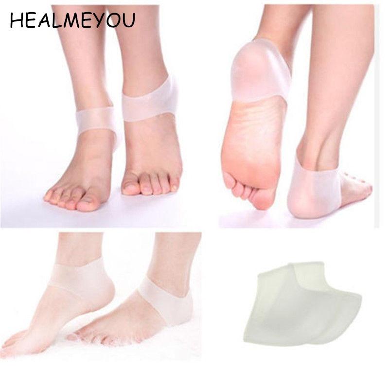 1 пара новых силиконовых носков для ухода за ногами, Увлажняющие гелевые носки на пятке, защита и уход за кожей стоп для мужчин и женщин