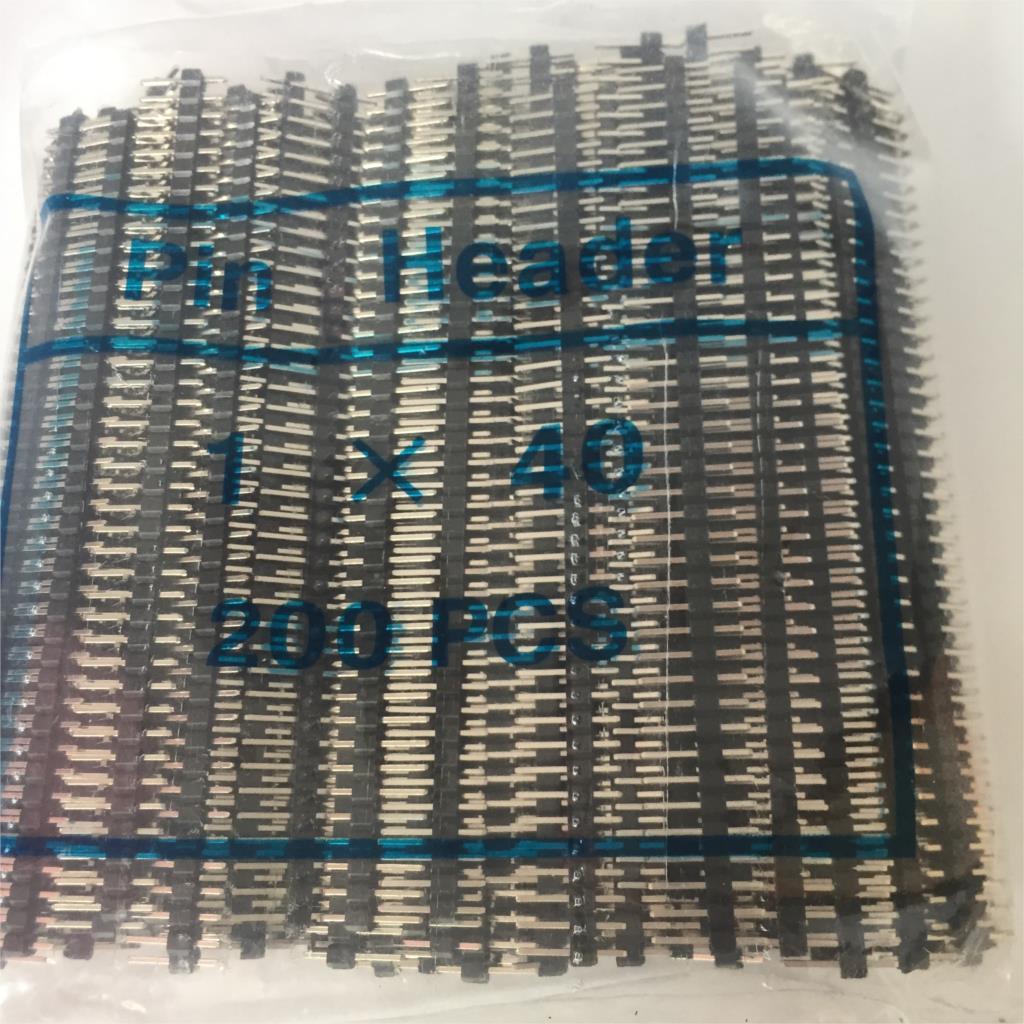 2,0mm de paso 2,0 Cabecera de Pin macho de una sola/doble fila 1*40P 2*40P separable PCB placa color conector tira Pinheader para Arduino