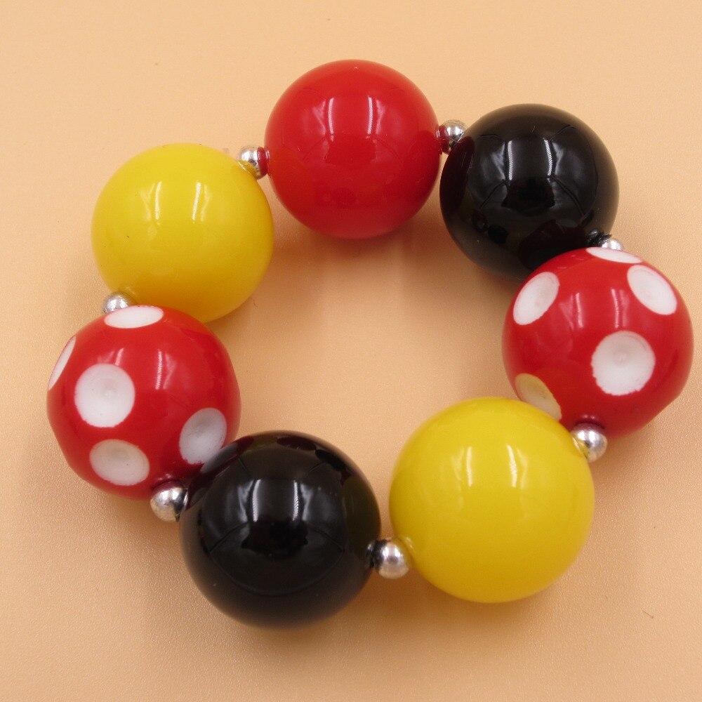 Cuentas acrílicas de 20mm brazaletes de goma de mascar China Post Air Mail envío gratis, joyería para niños, brazaletes gruesos, brazalete, joya para niñas