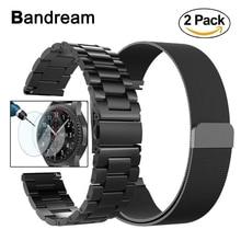 Bandream 22mm Milanese Döngü Paslanmaz Çelik Watchband Samsung Galaxy Izle 46mm Dişli S3 Band Bilek Kayışı Metal kemer Bilezik
