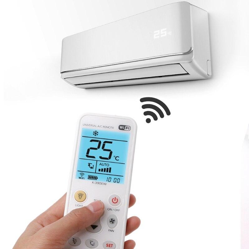 K-390EW wifi inteligente universal lcd ar condicionado a/c controle remoto