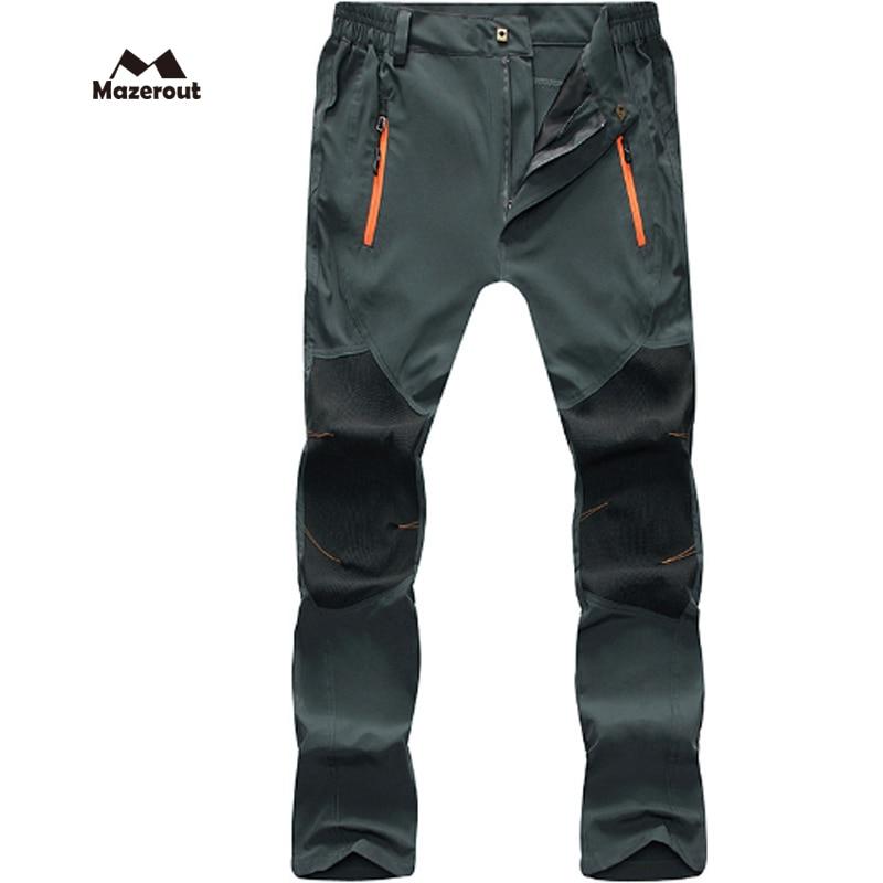 MAZEROUT 2017 hommes nouveau été pêche 3XL pantalons de plein air Trekking randonnée Camping grande taille pantalons cyclisme sport imperméable P31