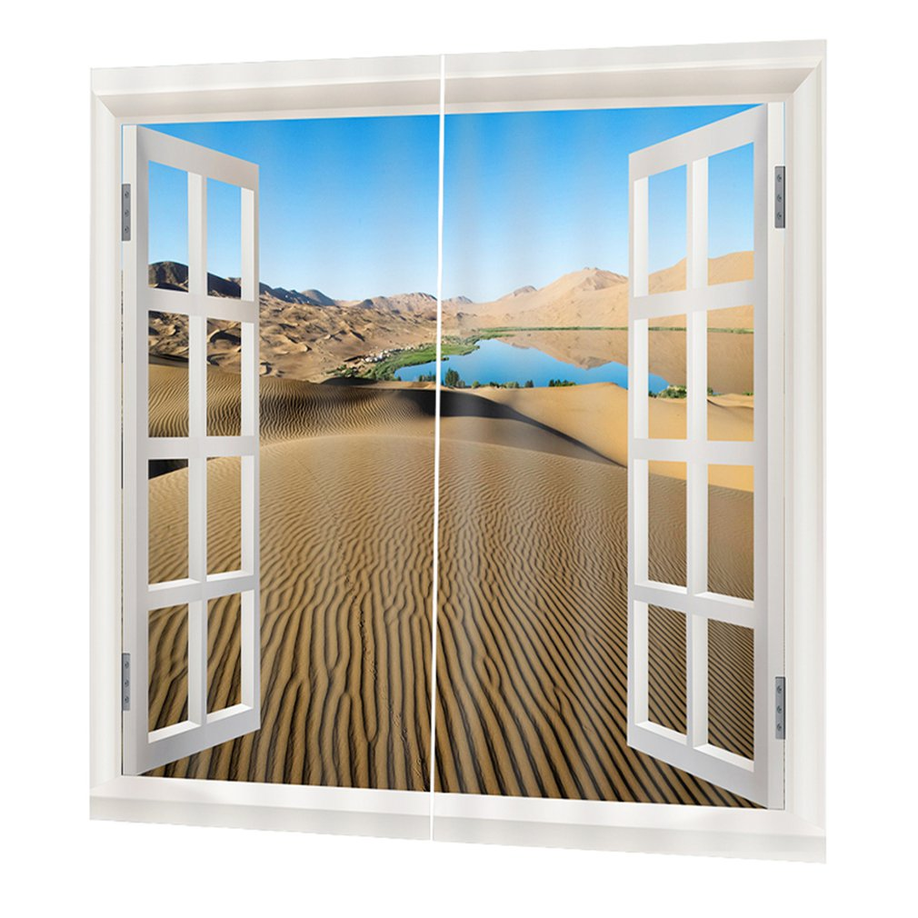 Cortinas opacas superiores de 170x200cm DZQT011113, cortinas decorativas elegantes para habitaciones