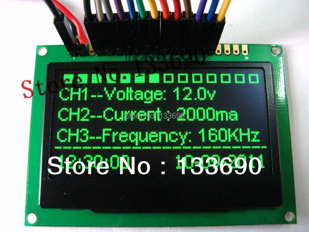 2,4 2,42 pulgadas verde 128x64 Módulo de pantalla OLED módulo OLED, 8bit-6800/8080,4-SPI, interfaz I2C controlador 20PIN ssd1305