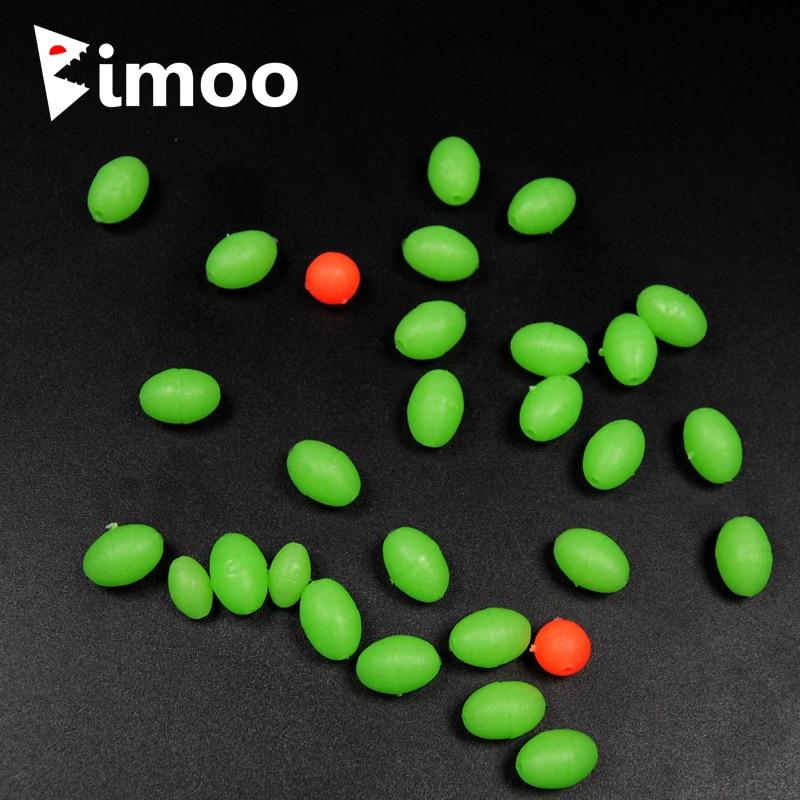 Bimoo 100 Uds de cuentas de pesca luminosas Lumo de frijoles Sabiki pargo plataforma