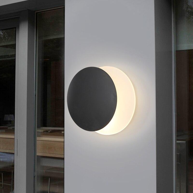 Lámpara de pared de hierro nórdica moderna, lámpara de aplique LED para sala de estar, pasillo, decoración de dormitorio, comedor, lámpara de pared