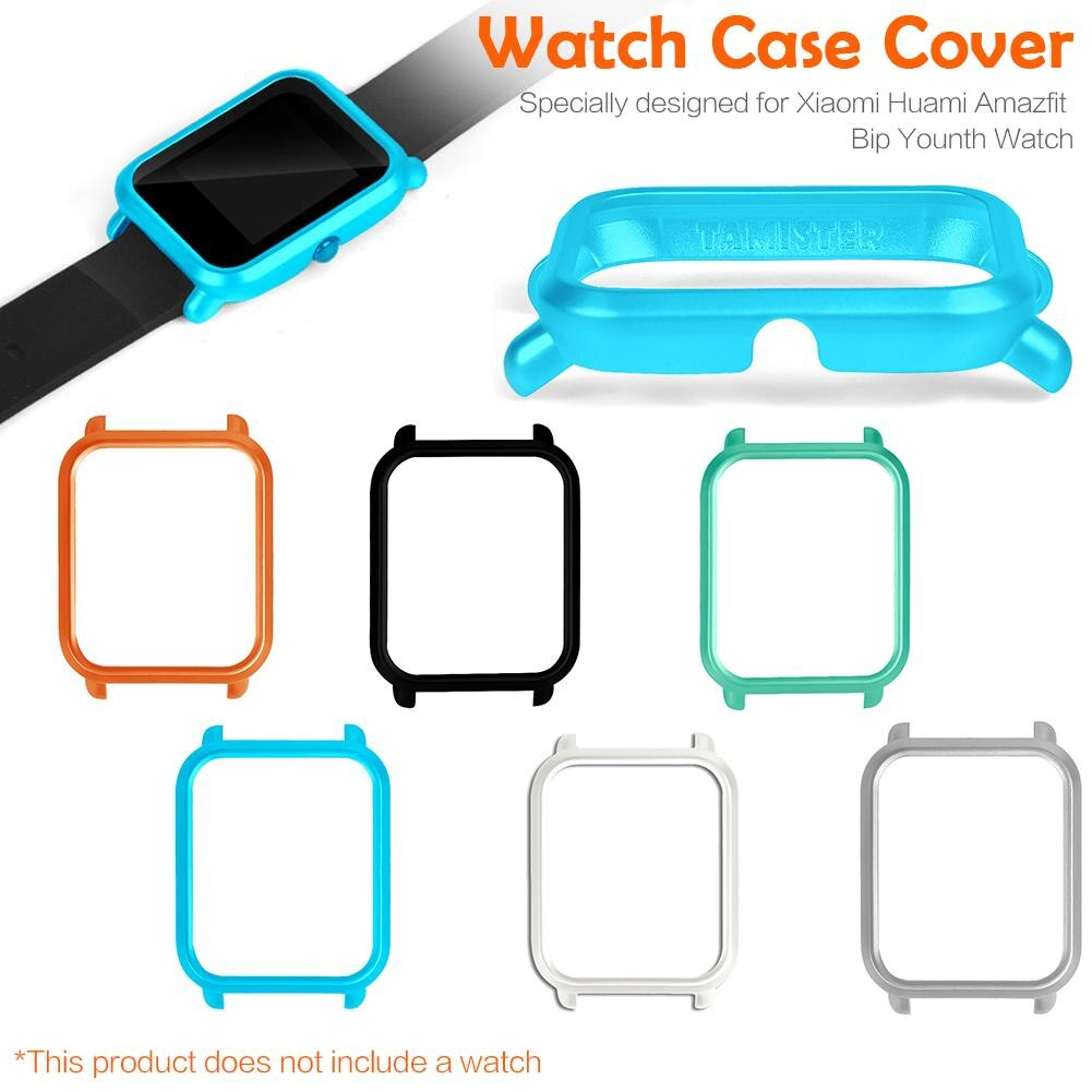 Nova quente caso protetor de relógio inteligente fino colorido quadro caso capa protetora para xiaomi huami amazfit bip younth relógio