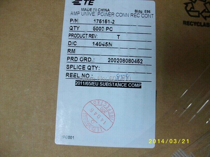 175151-2 CONN RCPT 26-22AWG تجعيد PRE-TIN تايكو TE AMP الموصلات العلب المحطات 100% جديد و الأصلي أجزاء