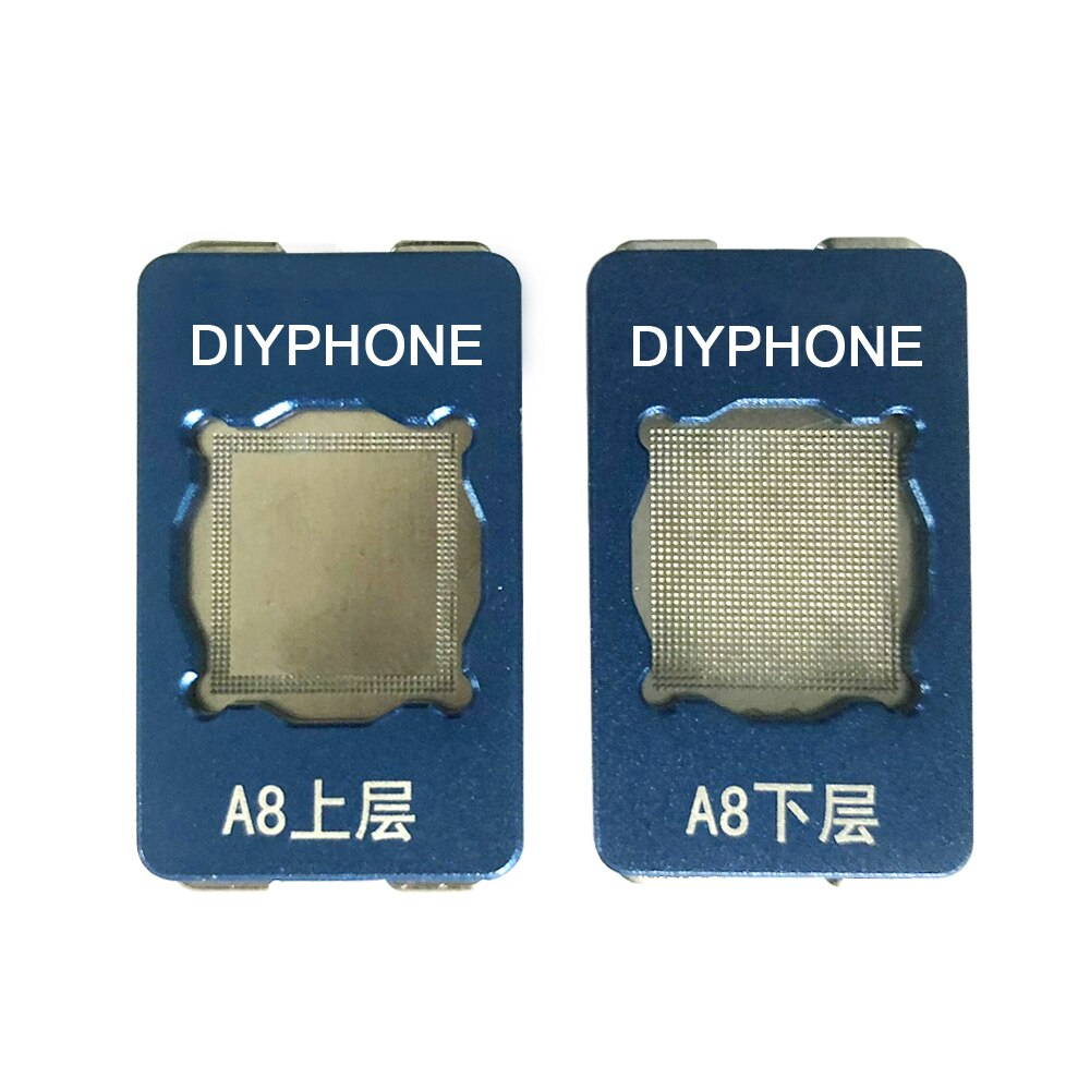 Plantilla de Reballing PHONEFIX PPD BGA plantilla A8 A9 A10 CPU superior inferior herramienta de reparación para iPhone 6 6P 6S 77P reparación de red de estaño