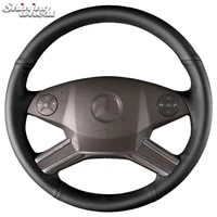 shining wheat genuine leather car steering wheel cover for mercedes benz m class 2009 2011 r class gl class 2010 2012 ml w164