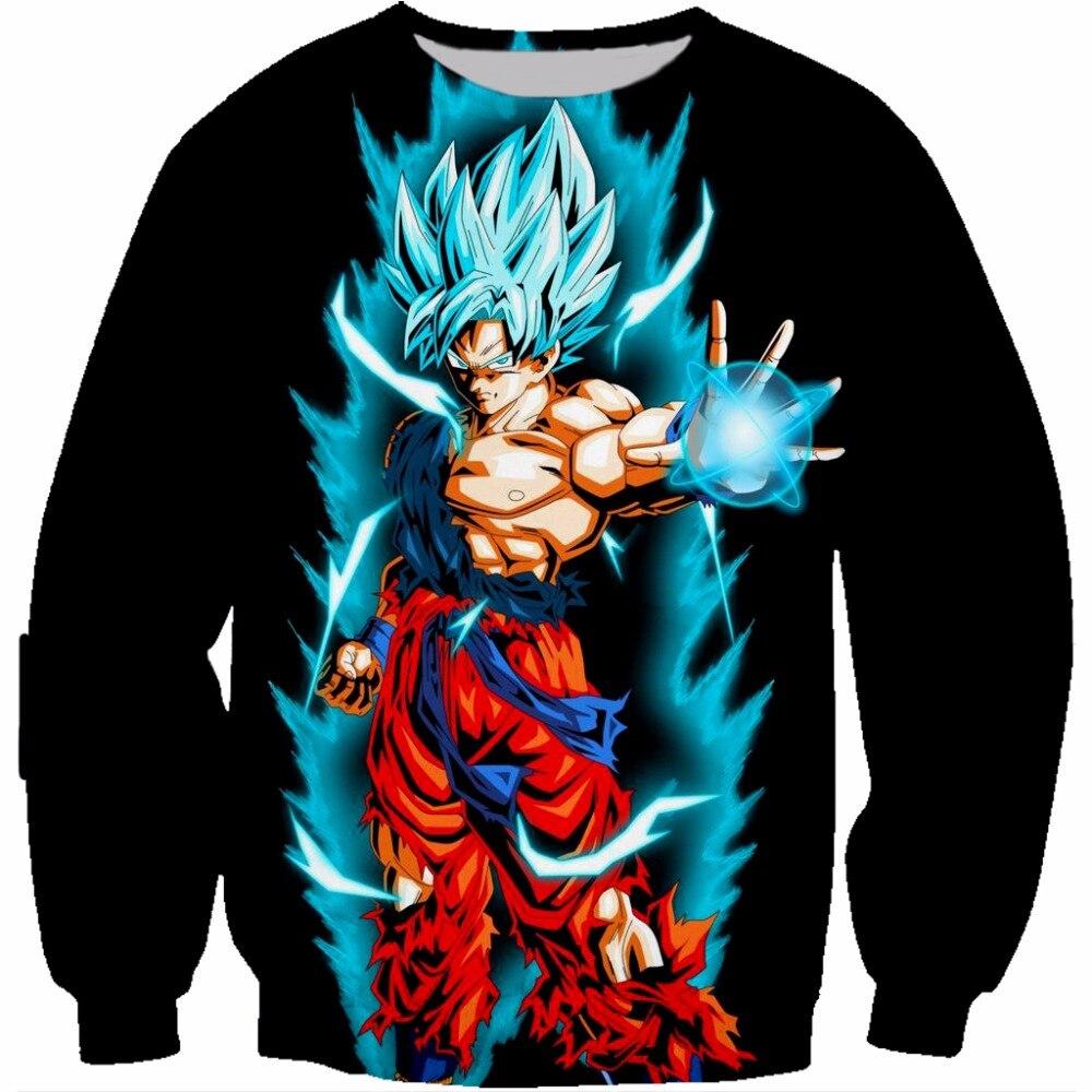 Sudaderas con capucha PLstar Cosmos de Dragon Ball z, Sudadera con capucha 3D para niños, sudaderas Goku con impresión de Anime, Sudadera con capucha de cuello redondo para niños, Sudadera negra con capucha