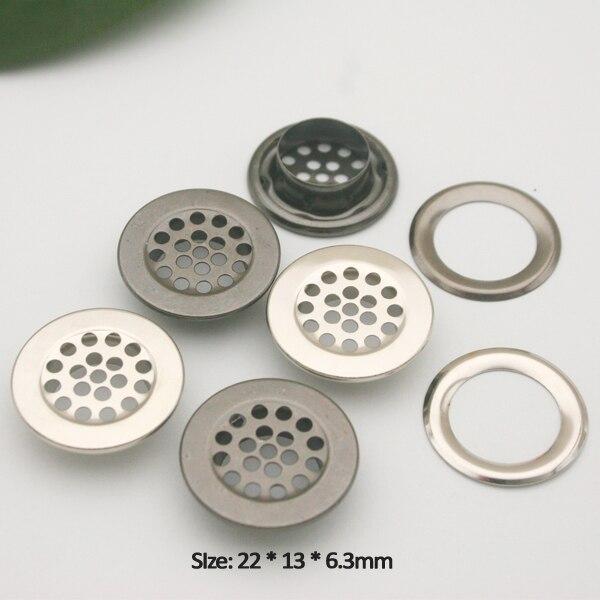 Ilhós de metal 100 define ilhós de malha de 22mm com ilhós de ilhós do metal da arruela nickle/preto para o colchão e o vestuário JY-021