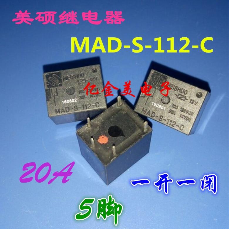 5 piezas MAD-S-112-C 12VDC de 5 pies y cerca de 20A
