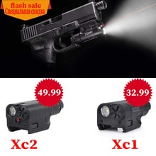 SF High Lumen XC1 and XC2 Red dot Laser Light Compact Pistol Flashlight 20mm Tactical LED MINI White