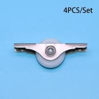 4pcs Wardrobe Small Plastic Table Sliding Door Roller Cabinet Window Roller Pulley Nylon Wheel High Quality