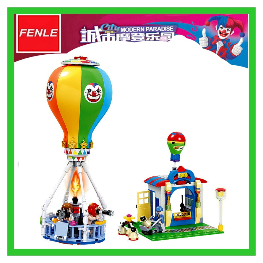 275 Uds 07032 ciudad moderna paraíso globo de aire caliente modelo juguete de bloques de construcción ladrillos niños juguetes regalos
