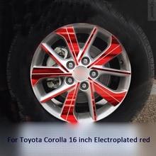 Llantas/ruedas modificadas pegatina brillante plateada para Toyota Corolla 16 pulgadas 2014-2016 Z2CA574