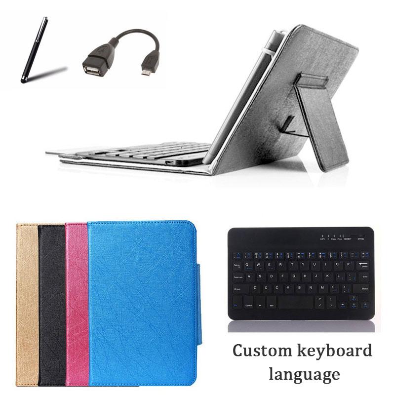 Teclado inalámbrico soporte de la cubierta del caso para Digma Citi 7575 3G 8 pulgadas Tablet teclado Bluetooth + + OTG cable