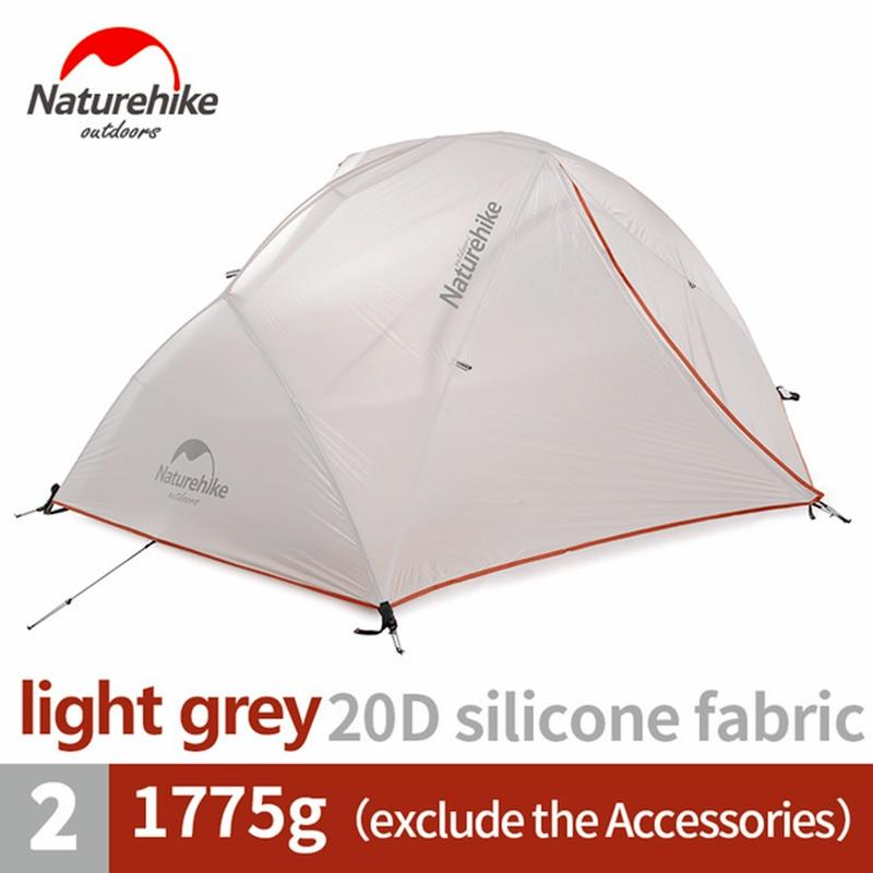 Naturehike في خيمة مطورة ستار نهر التخييم خيمة خفيفة 2 شخص 4 الموسم 20D سيليكون خيمة مع شحن حصيرة NH17T012-T