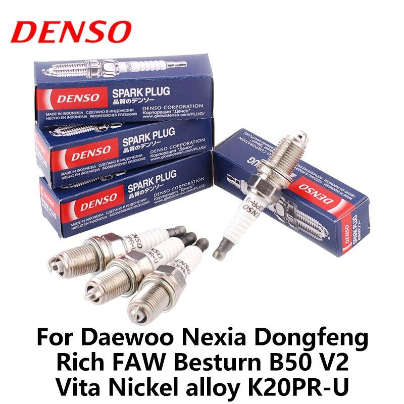 DENSO bujía de coche para Daewoo Nexia Dongfeng Rich FAW Besturn B50 V2 Vita aleación de níquel K20PR-U