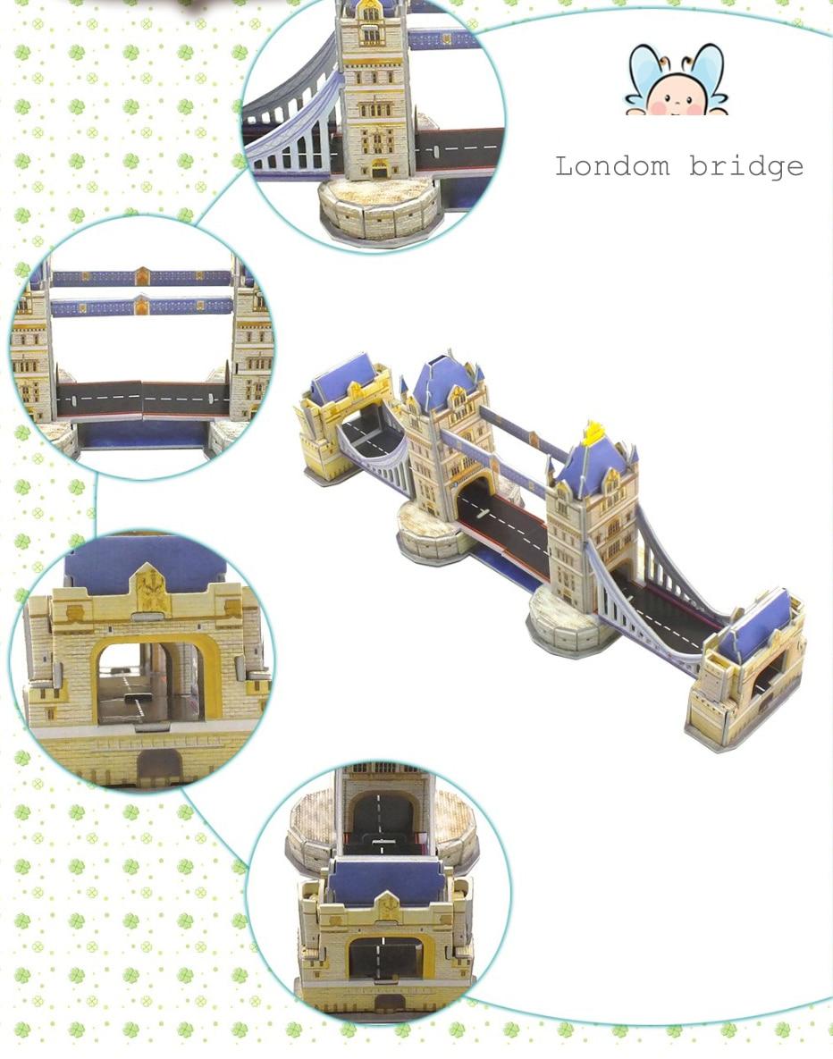 3D DIY Doll Bridge Paper Puzzle Toys Manual Jigsaw Children Miniature Puzzle Kit Handcraft Boy Birthday Kids gift