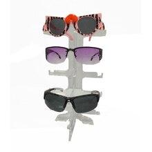 En gros 100 pièces 5 couche acrylique lunettes de soleil montrant support étagères clair Portable 5 paires lunettes stockage présentoir