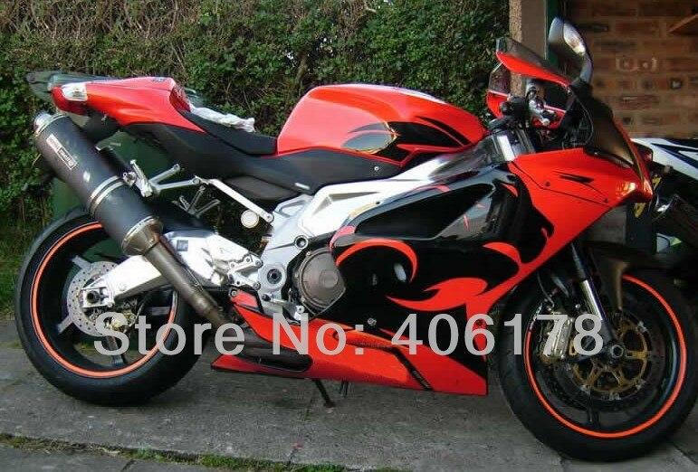 Kit de carrocería personalizado RSV1000R 03-06 para Aprilia RSV 1000R 2003 2004 2005 2006 carenados rojos de leopardo para motocicleta