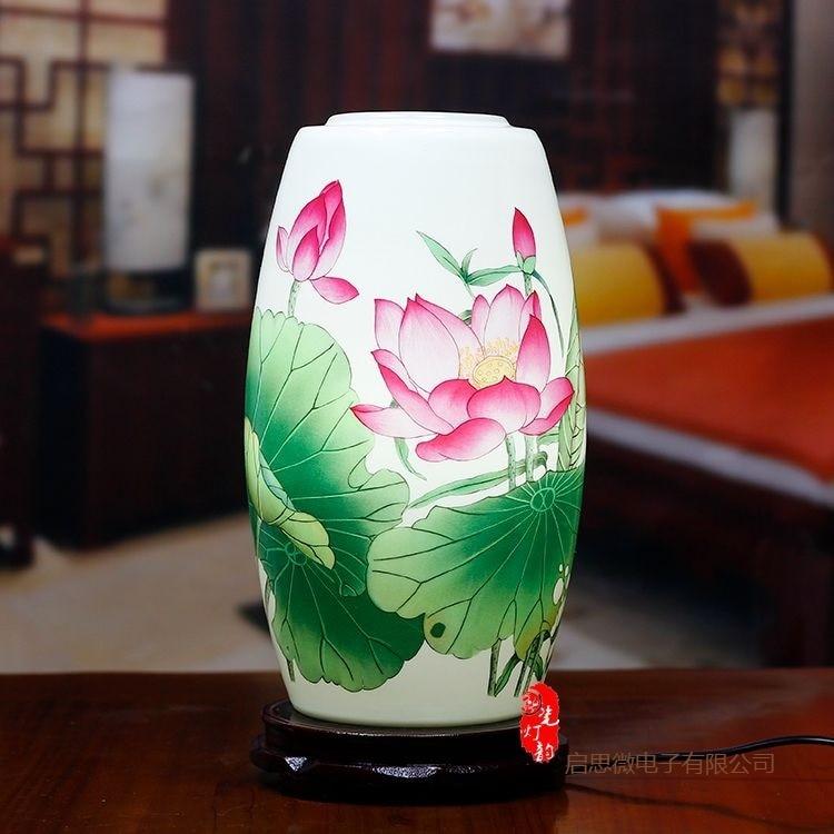 New Chinese Style table lamp wooden base e27 holder  Ceramics Table Lamp For Living Room Bedroom retro bedside lamp Modern desk