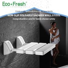 Ecofresh Wandmontage Douchestoel badkamer douche klapstoel vouwen strand Bad douche Kruk wc douche stoel