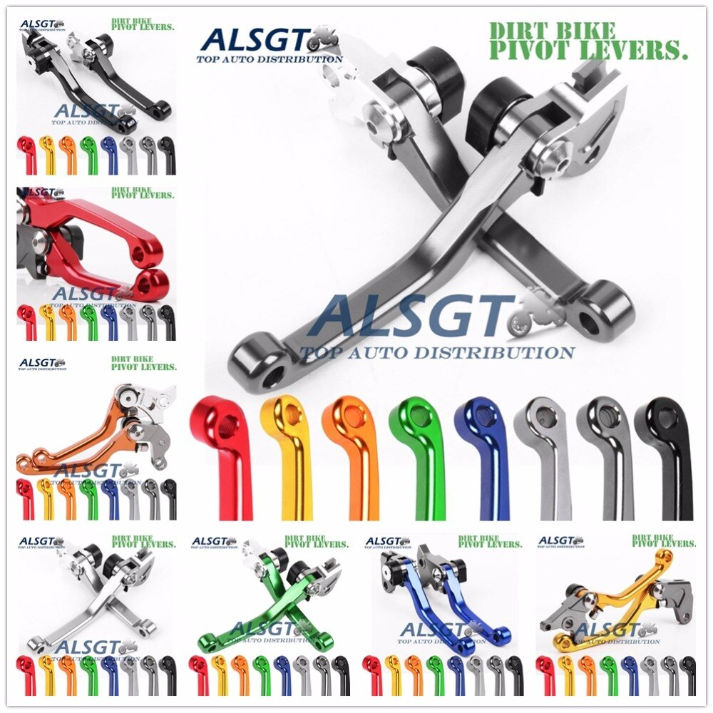 For Suzuki RM85 RM125 RM250 DRZ125L RM80 DR250 (not dual-sport) RM 80 85 125 250 CNC Pivot Racing Dirt Bike Clutch Brake Levers