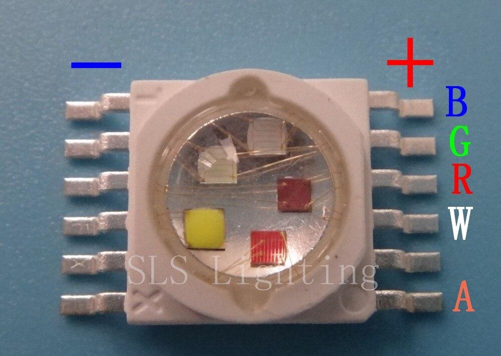 200 قطعة/الوحدة led led rgbwa رقاقة 10 واط RGBWA 5 اللون في 1 TianXin العلامة التجارية TYANSHINE