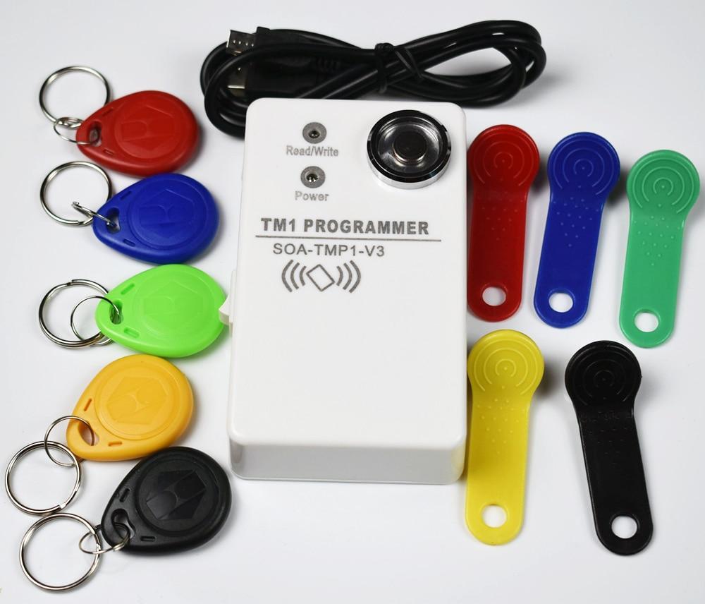1 шт./лот TM Ibutton карты ручной Дубликатор DS1990 RW1990 и 125 кГц EM4305 T5577 и совместимый rfid Копир