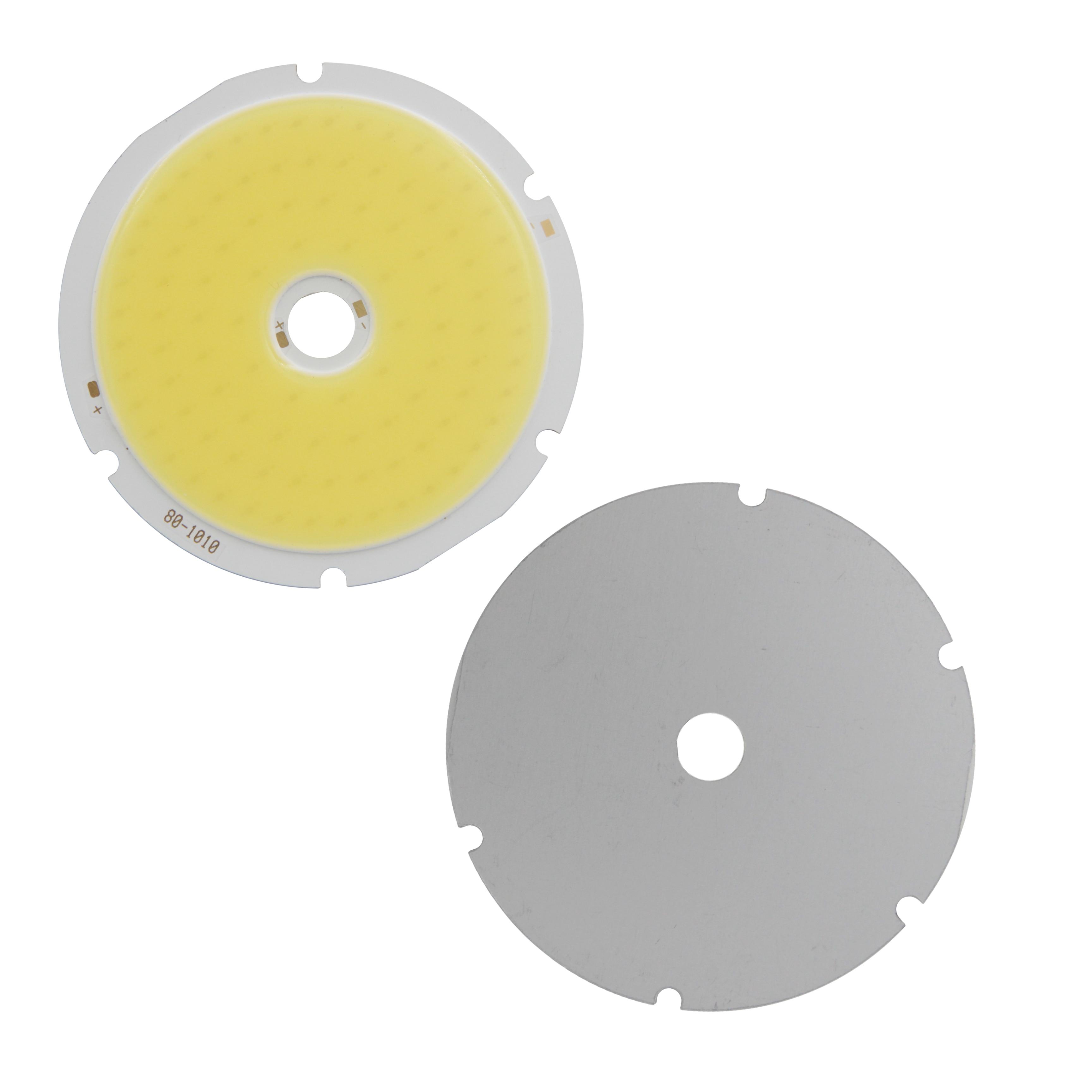 10PCS 80mm Annular 50W LED COB Light Source High Power White Warm White LED Strip Module Chip For Down Light DIY lamp