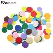 DECORA 200 PCS 2.5CM Eco-friendly Round Felt Fabric Pads Accessory Patches Circle Felt Pads Fabric Flower Accessories