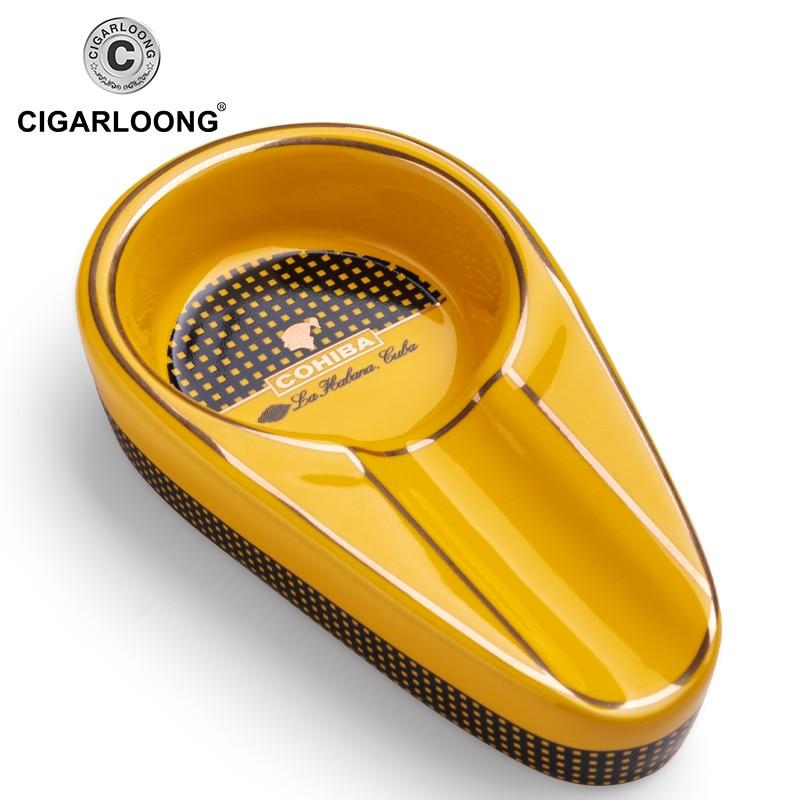 COHIBA Ashtray Mini Smoking Ashtray ceramic Pocket Cigarette Cuba Cigar Ash Tray Car Travel Ashtray Cigar Accessories