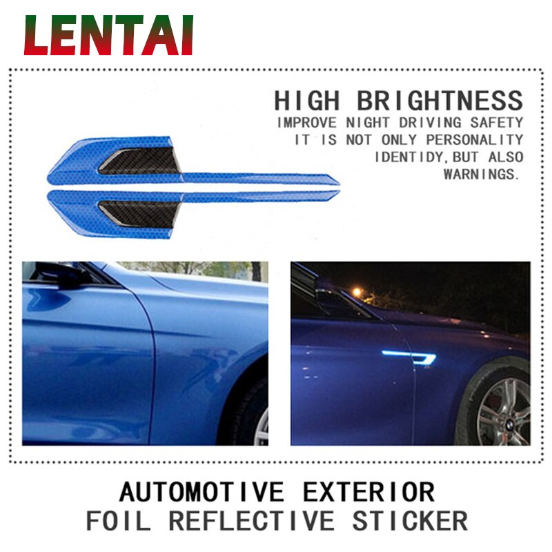 LENTAI 1 Juego de guardabarros delantero 3D emblema pegatinas de estilo para Ford Focus 2 3 Fiesta Monder MK3 Fusion Chevrolet Cruze Aveo Lacetti