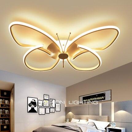 Luz de techo Led con Control remoto lámparas de techo modernas para sala de estar iluminación del hogar niños decoración de la habitación