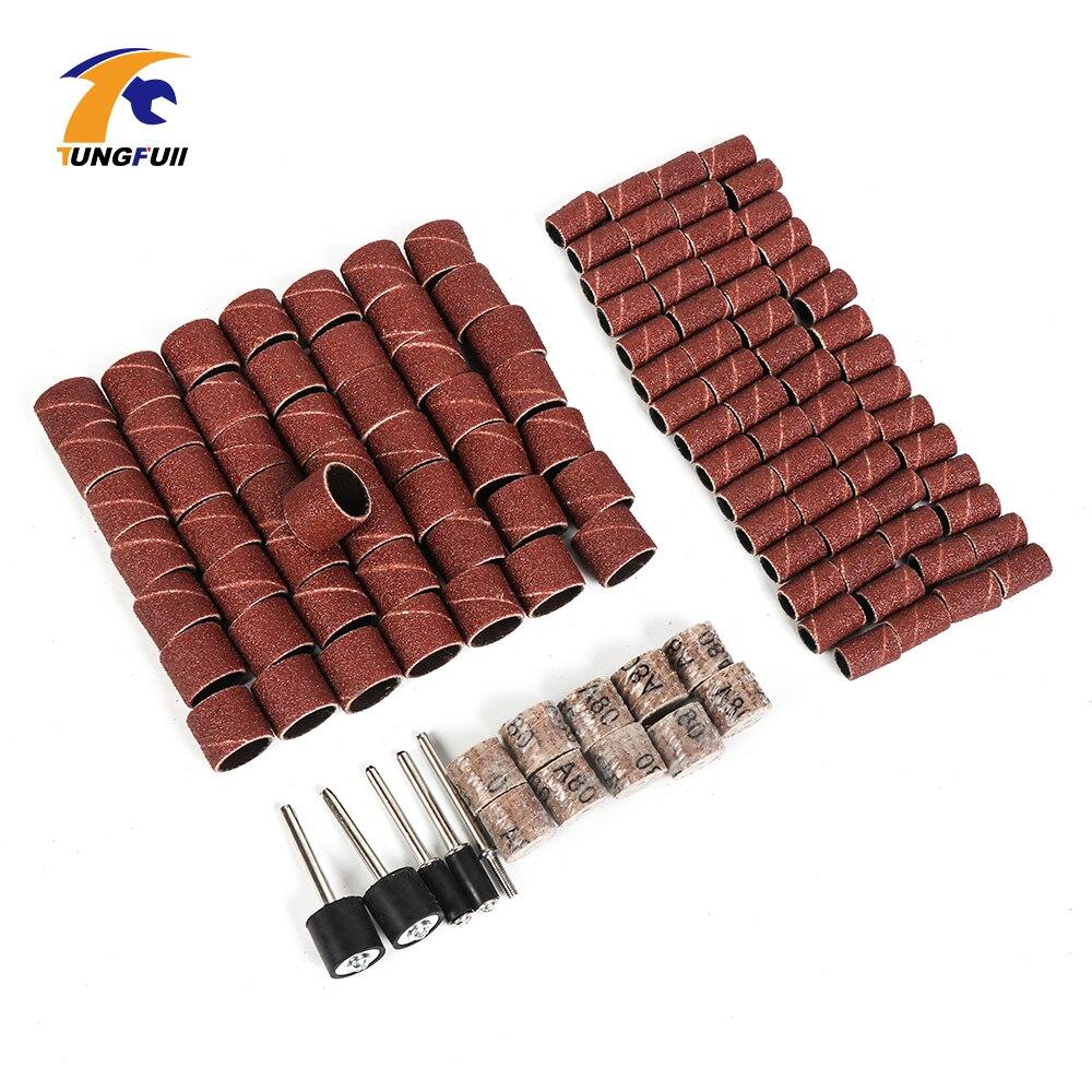 Dutoofree Dremel, accesorios para pulir 125 uds, papel de lija Dremel, ruedas de lijado, papel de lija DIY, metalurgia para Mini taladro Dremel