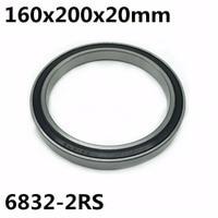 1pcs 6832-2RS 160x200x20 mm The high quality of ultra-thin deep groove ball bearings 6832RS 6832