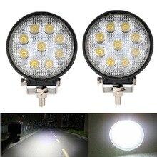 27W voiture LED Offroad travail barre lumineuse pour Jeep 4x4 4WD AWD SUV ATV Golf chariot 12v 24v conduite lampe moto antibrouillard barre Auto
