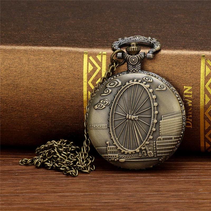 2019 relógio de bolso personalizado padrão steampunk, algarismos romanos, vintage, q, bolso