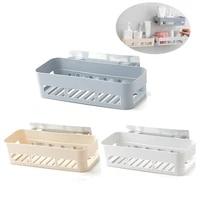 Etagere de rangement adhesive pour salle de bain  3 couleurs  cuisine  decoration de la maison  coin de douche  accessoires