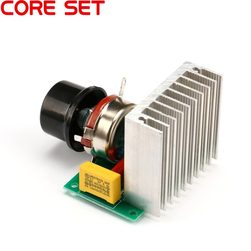AC 220V 3800W SCR Voltage Regulator Dimming Dimmers Motor Speed Controller Thermostat Electronic Voltage Regulator Module