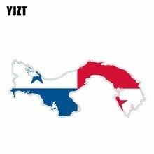YJZT 14,4 CM * 6,1 CM Auto Zubehör Flagge Panama Karte Auto Aufkleber Reflektierende Aufkleber 6-1178