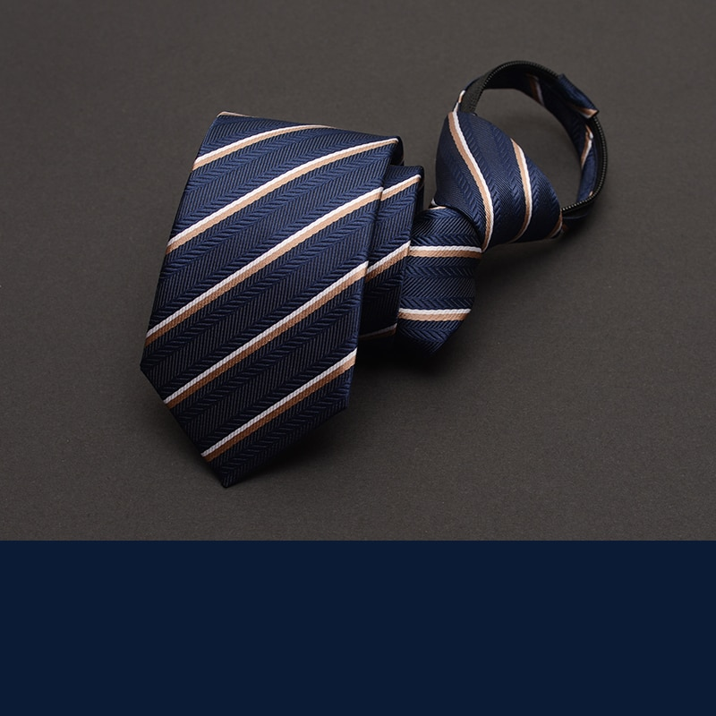 2021 New Arrivals  Zipper Tie for Men Narrow 6CM Fashion Casual Wedding Business Work Party Necktie with Gift Box Packing