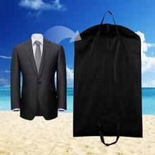 Sac cintre anti-poussière 1 pièce   Sacs de rangement noirs avec couverture pour manteaux et vêtements, stockage pour vêtements, almacenamiento, étui pour vêtements E5M1