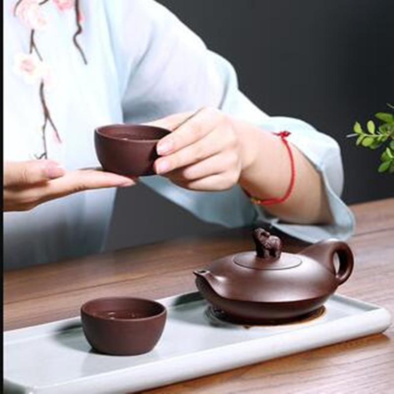 الصينية هدية الشاي كوب الأرجواني الطين إبريق الشاي المنزلية البسيطة عالية الجودة جيدة الميمون نمط اليدوية ل هدية الغذاء المعالج