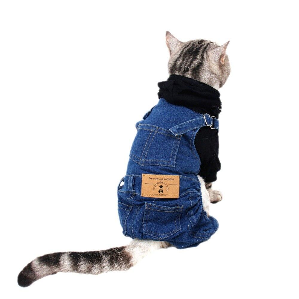 Ropa para gatos pequeños pantalones vaqueros disfraz ropa para gatos ropa para perros ropa para gatos