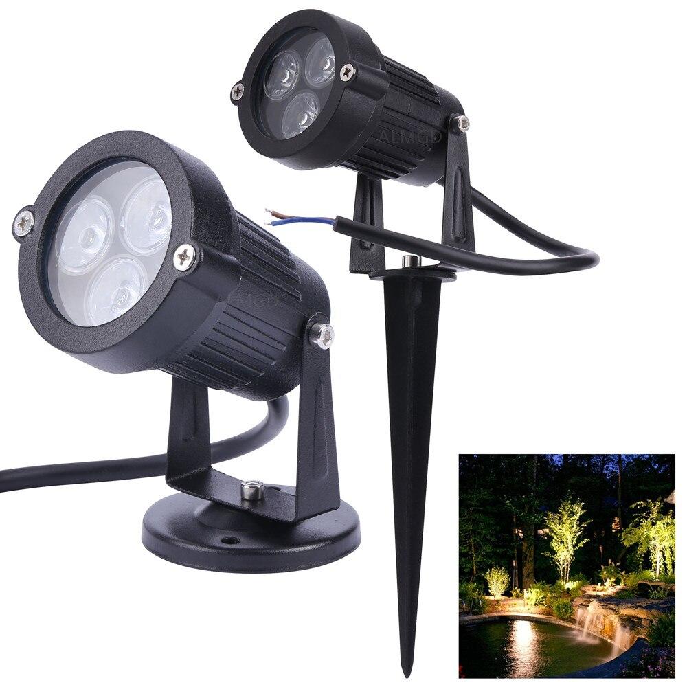 Садовая Светодиодная лампа для лужайки, 24 в пост. Тока, 9 Вт, уличное, ландшафтное освещение, IP65, 12 В, водонепроницаемый, садовый светильник дл...