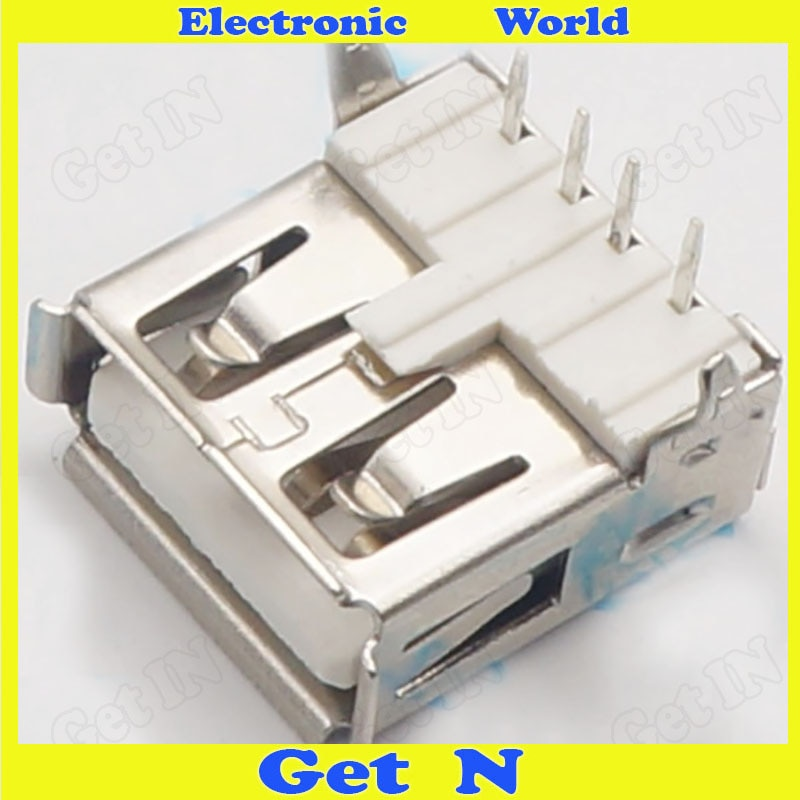 5000 AF90 درجة نوع المقبس AF90 دبابيس USB أنثى التوصيل USB شحن جاك موصل
